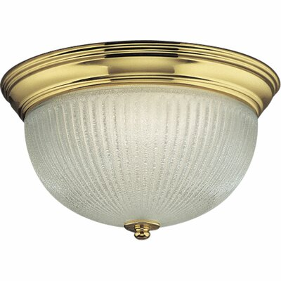 Progress Lighting Melon 2 Light Close-To-Ceiling Flush Mount