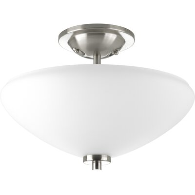 Progress Lighting Rave 2 Light Semi Flush Mount