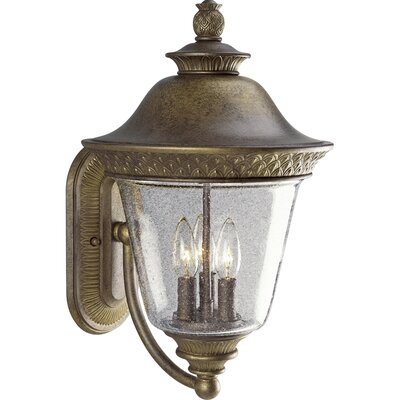 Progress Lighting Savannah 3 Light Outdoor Wall Lantern