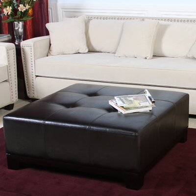 dCOR design Darlington Leather Ottoman in Brown