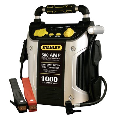 Stanley Tools 500 Amp Jump Starter with Compressor