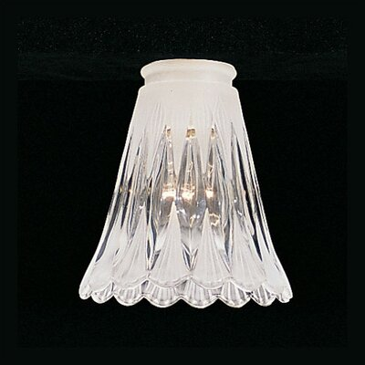 Thomas Lighting Clear and White Frosted Glass Shade