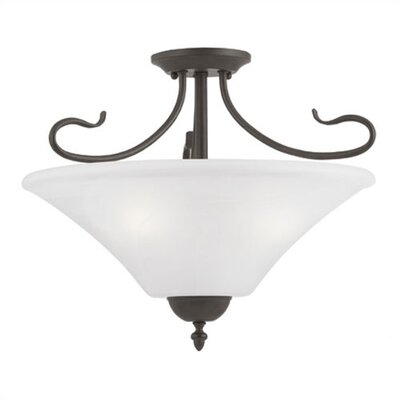 Thomas Lighting Elipse 3 Light Convertible Pendant / Semi Flush Mo