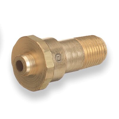 Western Enterprises 1/4&quot; NPT X 1 3/4&quot; Long Male Brass Regulator Nipple CGA 660