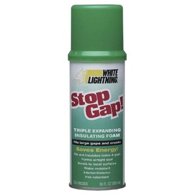 White Lightning White Lightning - Stop Gap! Triple Expanding Insulation Foam 16 Oz. White   Lightningstop Gap: 425-Wl3333300 - 16 oz. white   lightningstop gap
