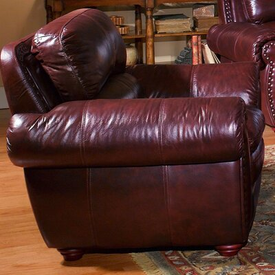 Aspen Leather Chair and Ottoman