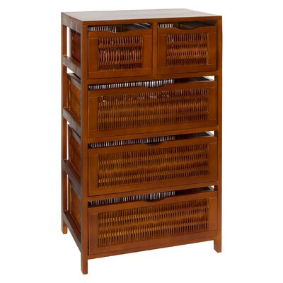 OIA Chestnut Five Drawer Storage Chest in Chestnut