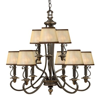 Hinkley Lighting Plymouth 9 Light Chandelier