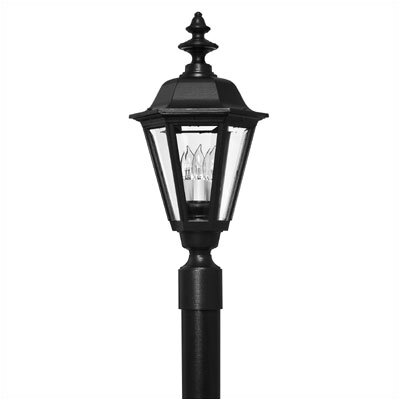 Hinkley Lighting Manor House Post Lantern in Black