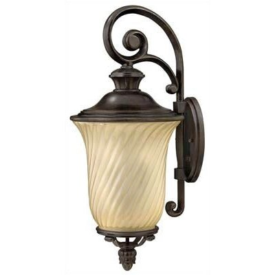 Hinkley Lighting San Mateo Outdoor Large Wall Lantern in Regency Bronze