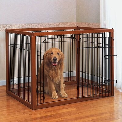 Indoor dog pen wayfair for Wooden dog pens for inside