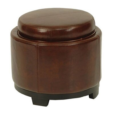 Cocktail Leather Ottoman