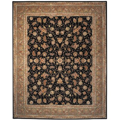 Persian Court Black/Light Green Sarouk Rug