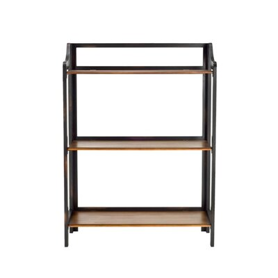 Safavieh James Bookshelf in Distressed Cherry and Black