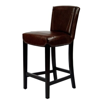 Ken Bi-cast Leather Barstool in Brown