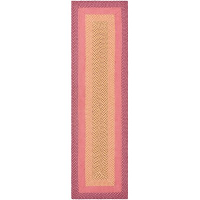 Braided Pink/Beige Rug
