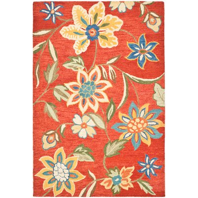 Safavieh Blossom Orange/Multi Floral Rug
