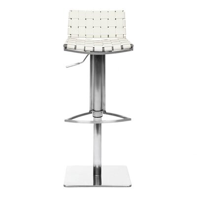 "Safavieh 18.5"" Liam Leather Barstool in White"