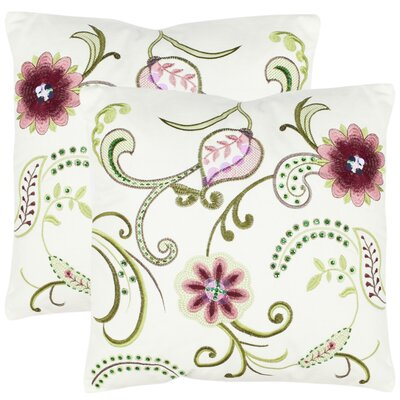 Safavieh Esmeralda Cotton Decorative Pillow (Set of 2)