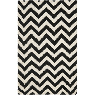 Dhurries Black/Ivory Rug