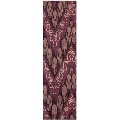 Ikat Dark Brown/Purple Rug