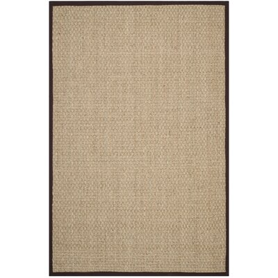 Natural Fiber Natural / Dark Brown Rug