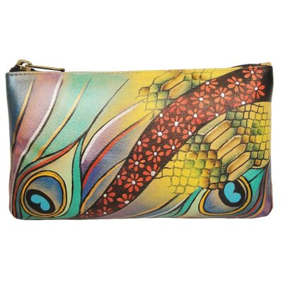 Anuschka Cosmetic Pouch in Dancing Peacock