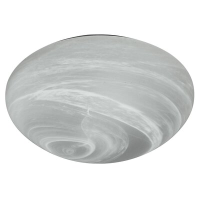 2 Light Marble Glass Flush Mount