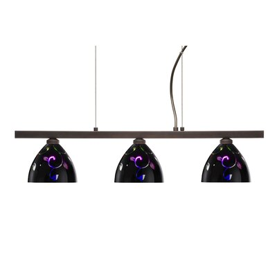 Besa Lighting Sabrina 3 Light Linear Pendant