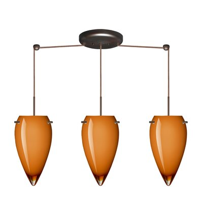 Besa Lighting Juli 3 Light Linear Pendant