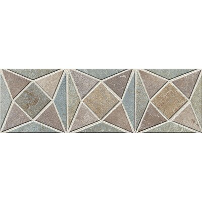 "Mohawk Flooring Slate Quarry Stone 12"" x 4"" Dark Decorative Border"