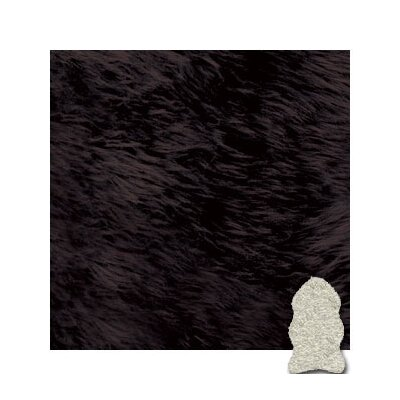 Bowron Sheepskin Rugs Chocolate Gold Star Rug