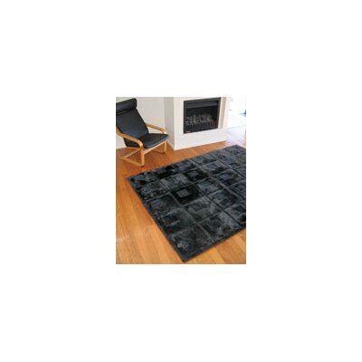 Bowron Sheepskin Rugs Shortwool Design Orbit Black Rug