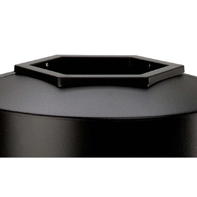 Commercial Zone 45 Gallon Round Waste Container in Black