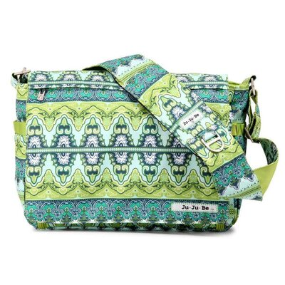 Be All Messenger Diaper Bag in Sea Glass