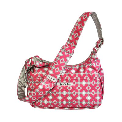 Ju Ju Be HoboBe Messenger Diaper Bag in Pink Pinwheels