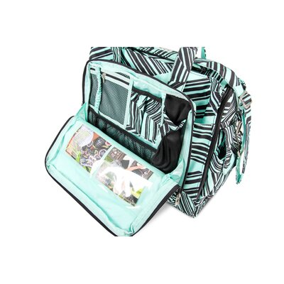 Ju Ju Be Be Prepared Messenger Diaper Bag in Mint Chip