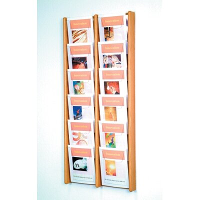 Wooden Mallet Twelve Pocket Acrylic and Oak Wall Display