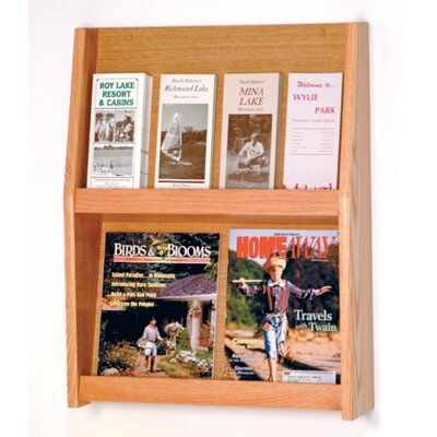 Wooden Mallet Four Magazine and Eight Brochure Wall Display