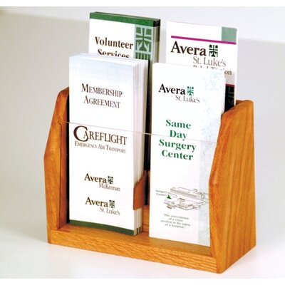 Wooden Mallet Countertop Four Pocket Brochure Display