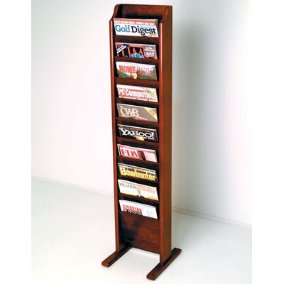 Wooden Mallet Free Standing Ten Pocket Magazine Rack