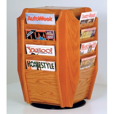 Wooden Mallet Countertop Sixteen Magazine Rotary Display