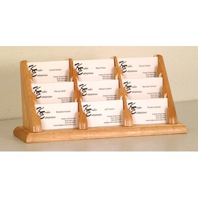 Wooden Mallet Nine Pocket Counter Top Business Card Holder