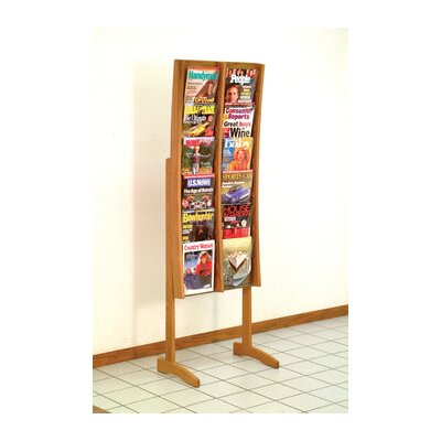 Wooden Mallet Twelve Pocket Contemporary Floor Display
