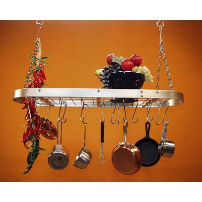 HSM Racks Low Profile Oval Hanging Pot Rack