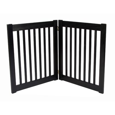 "Dynamic Accents Two 27"" Panel Free Standing EZ Pet Gate in Black"
