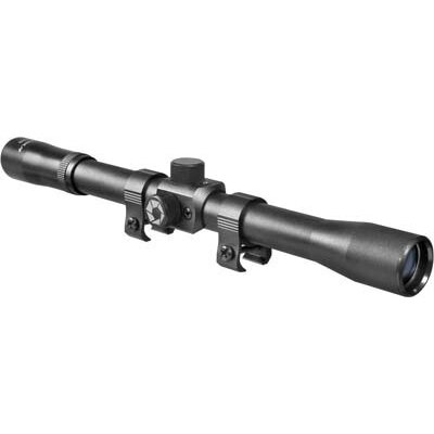 Barska 4x20 Rimfire Riflescope, Black Matte, 30/30 with Std ring