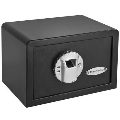Barska Mini BioMetric Key Lock Wall Safe
