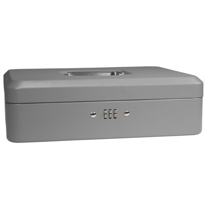 Large Gray Cash Box with Combination Lock