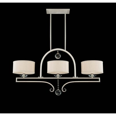 Rosendal 3 Light Linear Chandelier Island Light